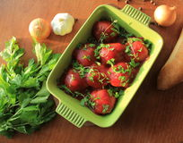 Almôndegas com molho de tomate Foto de Stock