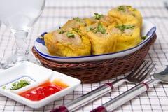 Almôndegas fritadas do tofu Fotografia de Stock Royalty Free