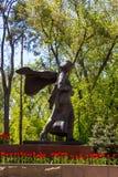 ALMA ATA, KAZACHSTAN - april 16, 2016: Monument Aliya Moldagulova Royalty-vrije Stock Afbeelding