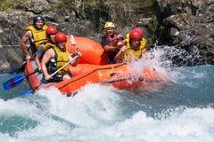 De concurrentie van Rafting Royalty-vrije Stock Foto's