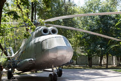 Alma Ata, Kazachstan - Augustus 28, 2016: Helikopter in de kinderen Stock Fotografie