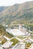 Alma Ata, Kazachstan - Augustus 30, 2016: Hoge berg het schaatsen piste Stock Afbeeldingen