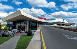 Alma Ata - Luchthaven van Alma Ata Stock Afbeeldingen