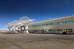ALMA, Basisstation der weltweiten größten Teleskop Reihe, Chile lizenzfreie stockfotos