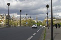 Alma Bridge a Parigi Immagini Stock Libere da Diritti
