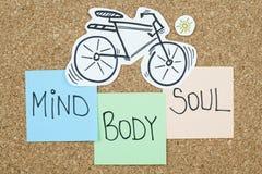 Alma del cuerpo de la mente Foto de archivo