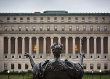 Alma Mater του Πανεπιστημίου της Κολούμπια, πόλη της Νέας Υόρκης, ΗΠΑ στοκ φωτογραφία