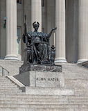 Alma mater columbia university. Columbia university with the statue of alma mater, established in 1860, new york city Stock Image