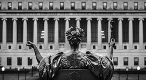 Alma Mater der Universität von Columbia, New York City, USA stockbild