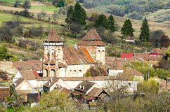 Alma Vii, chiesa fortificata evangelica Fotografia Stock Libera da Diritti