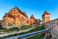 Alma Vii ha fortificato la chiesa, Romania Immagine Stock