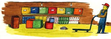 Almacén Stock de ilustración