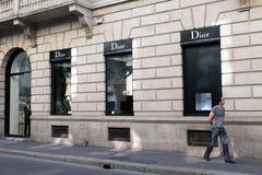 Almacén de Dior Fotos de archivo libres de regalías