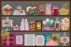 Almacén de dulces y del chocolate Fotos de archivo libres de regalías