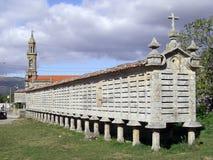 Almacén de grano en España Foto de archivo