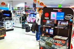 Almacén de la electrónica en Hong-Kong Foto de archivo libre de regalías