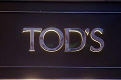Almacén de la manera de Tod imagenes de archivo