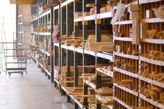 Almacén de maderas de interior Fotografía de archivo libre de regalías