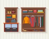 Almacén de ropa Tienda de ropa del hombre y de la mujer Fotos de archivo libres de regalías