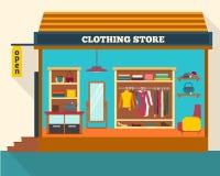 Almacén de ropa Tienda de ropa del hombre y de la mujer Foto de archivo libre de regalías