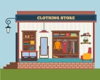 Almacén de ropa Tienda de ropa del hombre y de la mujer Imagen de archivo