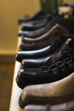 Almacén de zapato Imagen de archivo libre de regalías