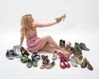 Almacén de zapato Fotografía de archivo libre de regalías