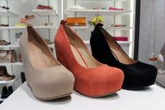 Almacén de zapato Foto de archivo libre de regalías