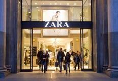 Almacén de Zara Foto de archivo libre de regalías