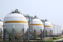 Almacén del gas natural Fotografía de archivo libre de regalías