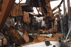 Almacén destruido Fotografía de archivo libre de regalías
