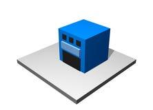 Almacén - diagrama industrial de la fabricación Imagenes de archivo