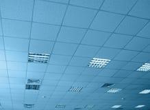 Almacén interior azul, construcción, Imágenes de archivo libres de regalías
