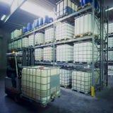 Almacén químico Fotos de archivo libres de regalías