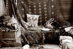 Almacén turco de la alfombra, bazar foto de archivo