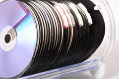Almacenaje CD Fotografía de archivo libre de regalías