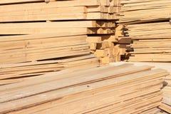 Almacenaje de la madera Imágenes de archivo libres de regalías