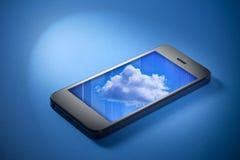 Almacenaje de la nube del teléfono celular imagen de archivo libre de regalías