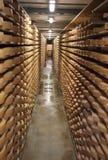 Almacenaje del queso Fotografía de archivo