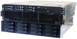 Almacenaje del servidor y del sistema de la lámina Fotos de archivo libres de regalías