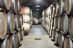 Almacenaje del vino Fotos de archivo libres de regalías