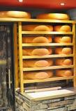 Almacenaje grande del queso Imagen de archivo libre de regalías