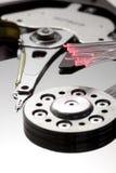 Almacenaje y primer vertical macro de la óptica de fibras Imagen de archivo