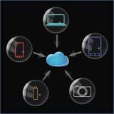 Almacenamiento de datos de la nube Foto de archivo