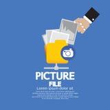 Almacenamiento de fichero de imagen. ilustración del vector