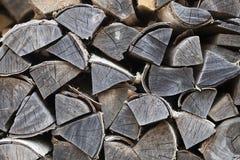 Almacenamiento de Firewoods Foto de archivo