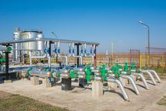 Almacenamiento de gasolina y pipelin Fotos de archivo libres de regalías