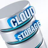 Almacenamiento de la nube Fotografía de archivo