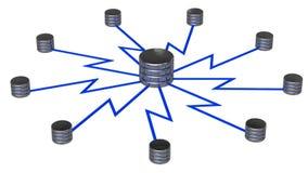Almacenamiento de la red Imagen de archivo libre de regalías