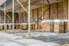 Almacenamiento de madera del fuego Fotografía de archivo libre de regalías